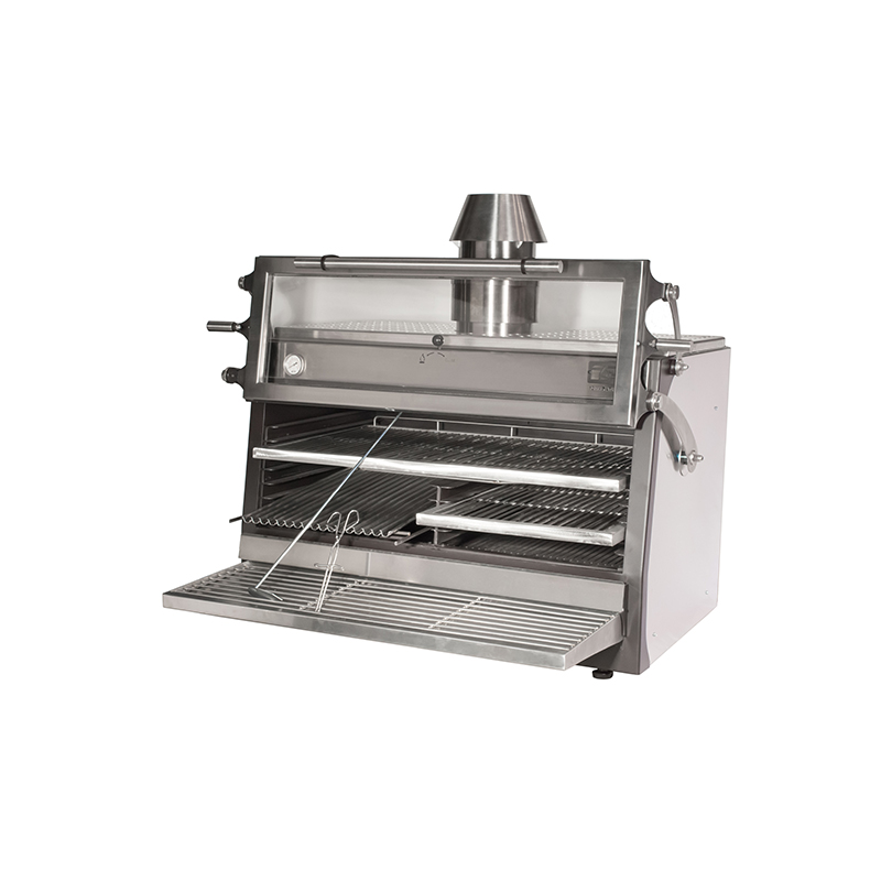 Pira 120 LUX Inox ED  (with chimney kit and cart) (cart not shown)