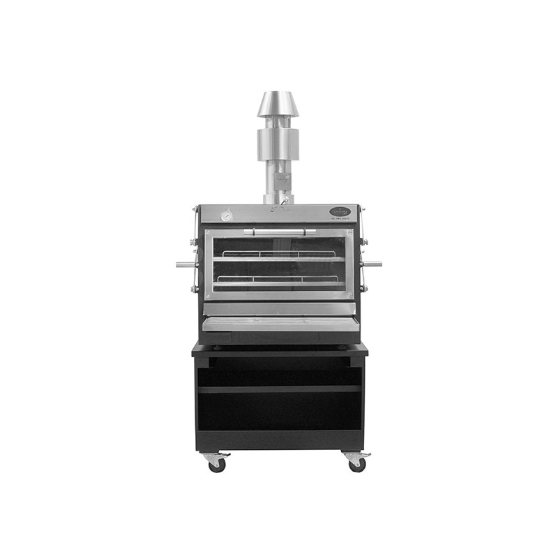 Pira 90 LUX Inox ED (with chimney kit and cart)