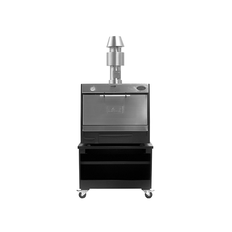 Pira 90 LUX Inox SD (with chimney kit and cart)